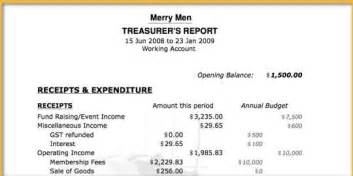 Treasurer Report Template Non Profit by Non Profit Financial Statement Template Hairstyles
