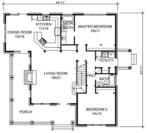 Rustic Cottage Floor Plans by Parsons Bend Rustic Cottage Home Plan 095d 0050 House