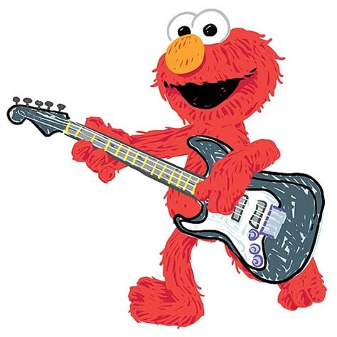 Sesame Street Wall Stickers sesame street elmo rock n roll guitar giant wall decal