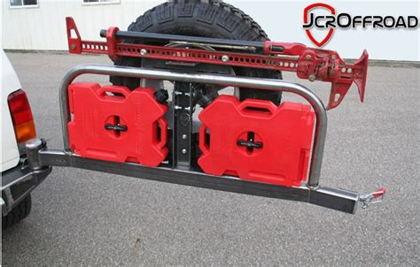 jeep gas can rack back bumper with tire carrier gas can carrier jack