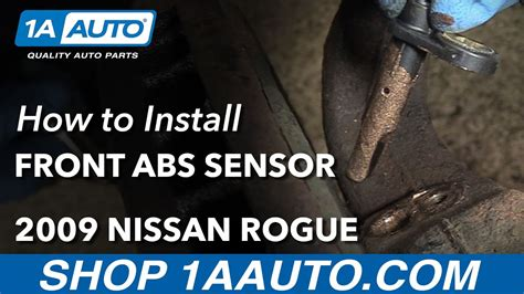 install replace front abs sensor  nissan rogue