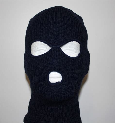 Masker Black Mask 3 warm knit winter ski mask robber mask