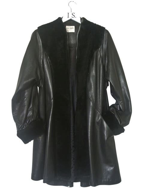 leather swing coat vintage leather coat sold i s v i n t a g e
