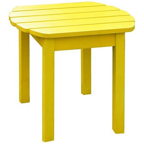 Yellow Accent Table Yellow Finish Solid Wood Accent Table T4759 Ls Plus