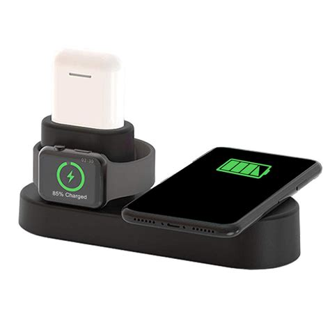Is Apple Series 4 Wireless Charging by Us 4 In 1 Qi Wireless Charger Charging Station For Smart Phone Apple Series Apple