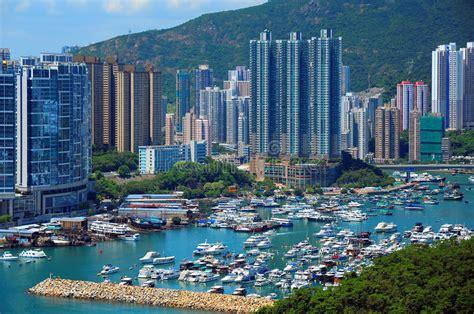 porto di hong kong porto di aberdeen hong kong fotografia stock immagine