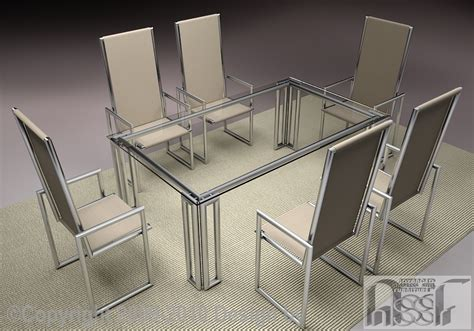 Dining Set Tubular 002 Assf Advanced Stainless Steel Dining Table Set Steel
