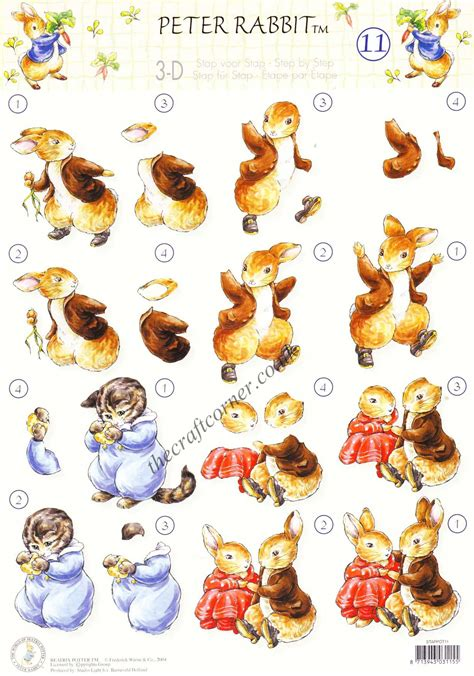 beatrix potter decoupage beatrix potter s rabbit 11 tom kitten rabbit