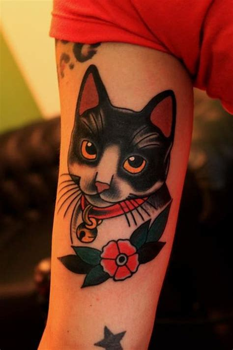 tattoo old school cat 51 cute cat tattoo designs amazing tattoo ideas