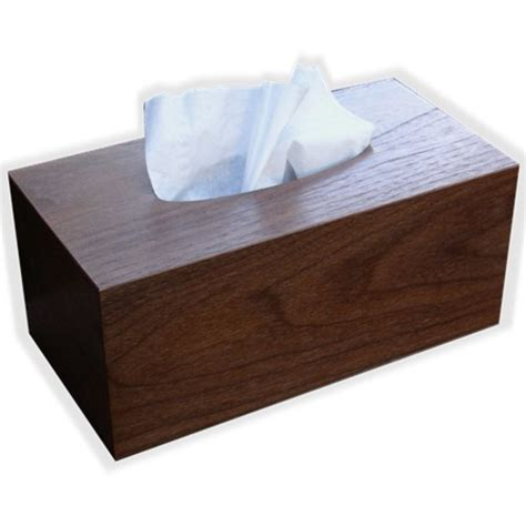 tissue box cover american walnut veneer regular size this