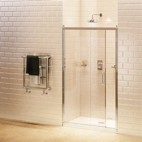 Recess Shower Door Burlington Soft Recessed Sliding Shower Door 120cm