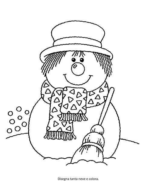 imagenes para colorear vacaciones de invierno la maestra linda inverno il pupazzo di neve