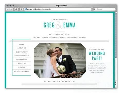 Bridal Websites by Wedding Jojo Wedding Websites