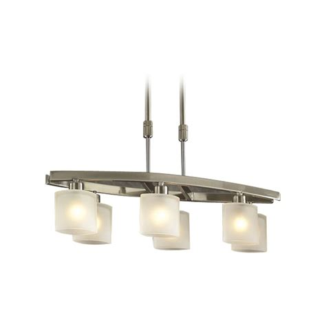 Modern Island Lighting Modern Island Light With White Glass In Satin Nickel Finish 649 Sn Destination Lighting
