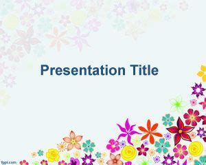 ppt templates for motivation free download free red flowers power point template