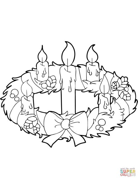 advent wreath candles coloring page advent coloring pages