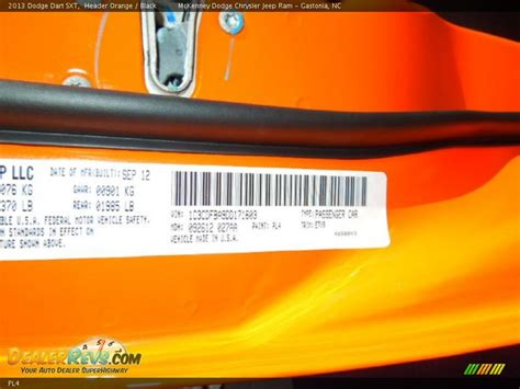 dodge color code pl4 header orange dealerrevs