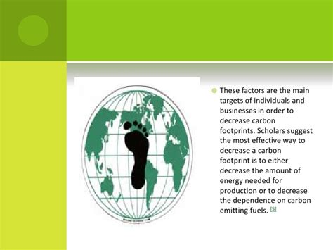 carbon footprint template carbon foot print ppt