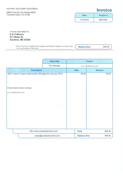 car dealer invoice invoice template ideas