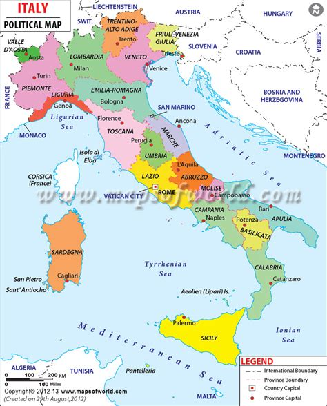 karte deutschland italien political map of italy country maps