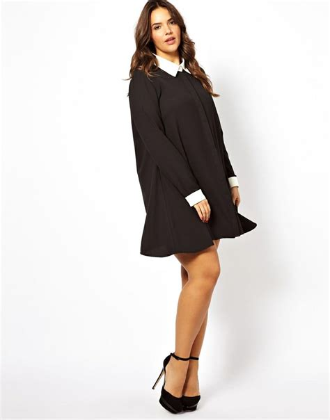 swing dress with collar alice you swing dress with contrast collar and cuff