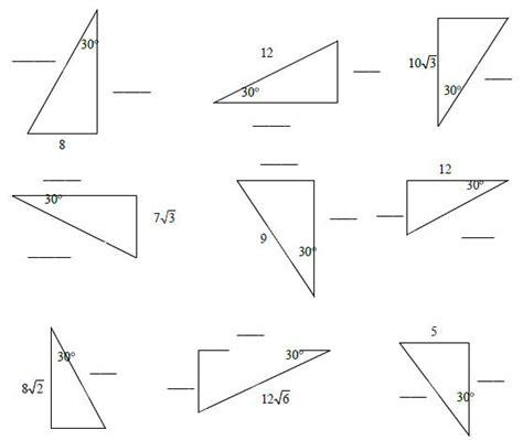 45 45 90 Triangle Worksheet by Worksheets 30 60 90 Triangles Worksheet Opossumsoft