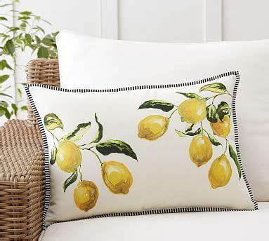 lemon branch indooroutdoor lumbar pillow pottery barn