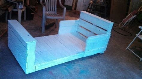 pallet toddler bed toddler bed made from pallets pallet creations