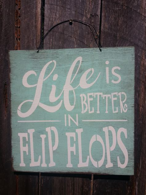 flip flop home decor beach decor beach house flip flop sign beach by