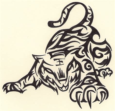 tiger with tribal tattoo wallpapers hd desktop wallpapers free tribal