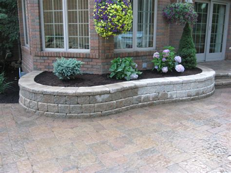 Retaining Wall Planter by Klein S Lawn Landscaping Hardscapes Retaining Walls
