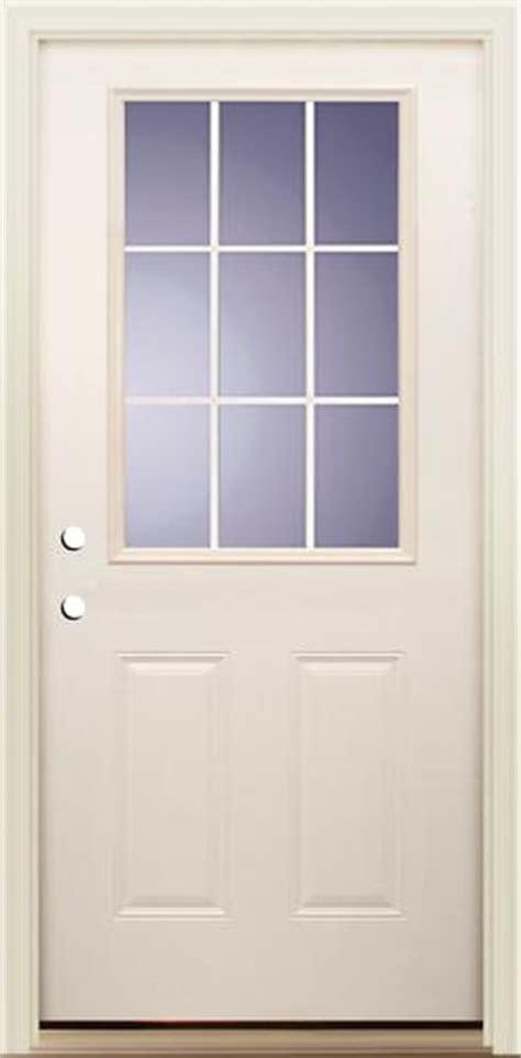 Mastercraft Exterior Doors Mastercraft I 4 Smooth White Fiberglass 9 Lite Prehung Ext Door At Menards 174
