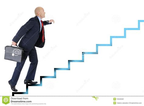 a portfolio to achieve success at the races books businessman runs up the career ladder stock image image