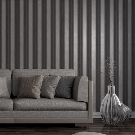 wallpaper black ebay fine decor wentworth stripe wallpaper black grey cream