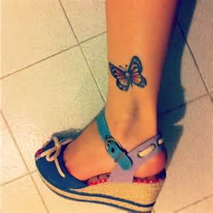 Pretty butterfly tattoo 7 butterfly ankle tattoo on tattoochief