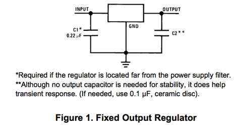 capacitor function pdf voltage regulator what is the purpose of the 7805 input capacitor electrical engineering