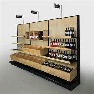 retail wine shelving liquor store commercial wine racks wood gondola shelving