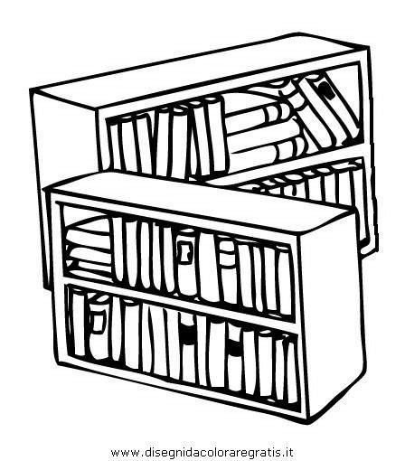 disegni di librerie disegno casa libreria biblioteca 2 da colorare