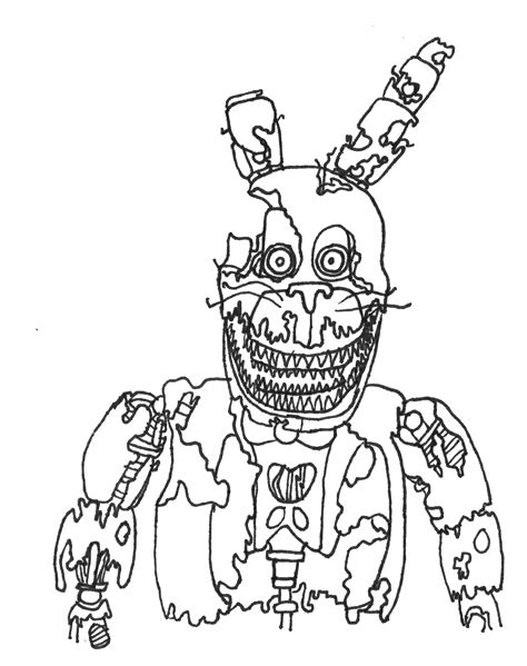 Fnaf 1 Coloring Pages by Fnaf Coloring Pages Bonnie Free Coloring Books