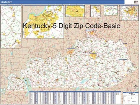 map kentucky area codes kentucky zip code map map