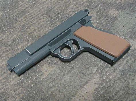 Pistol Papercraft - handgun papercraftsquare free papercraft