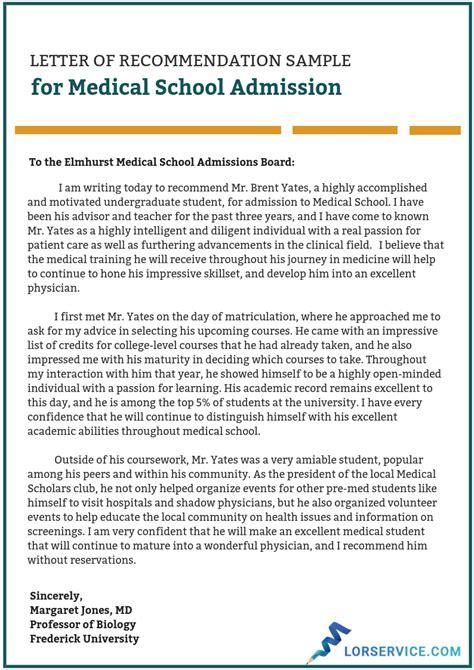 Med School Letter Of Recommendation