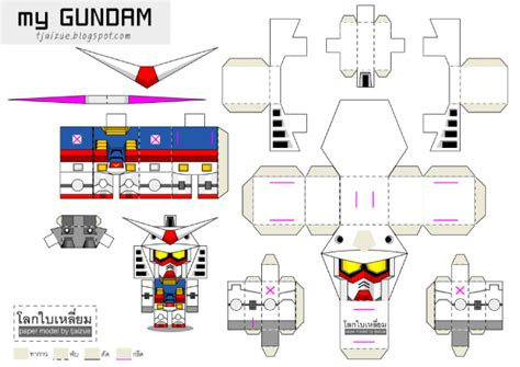 Gundam Papercraft Template - pin papercraft gundam template on