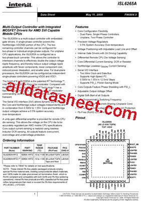 Isl6265a isl6265a datasheet pdf intersil corporation
