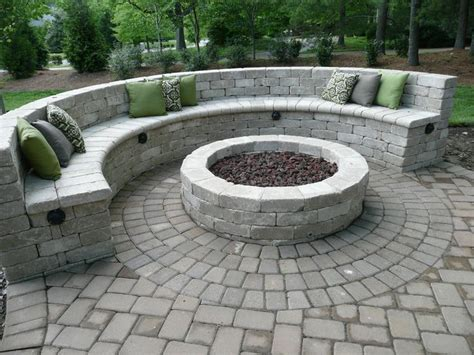 fire pit benches seat bench with gas fire pit outdoor living inspiration