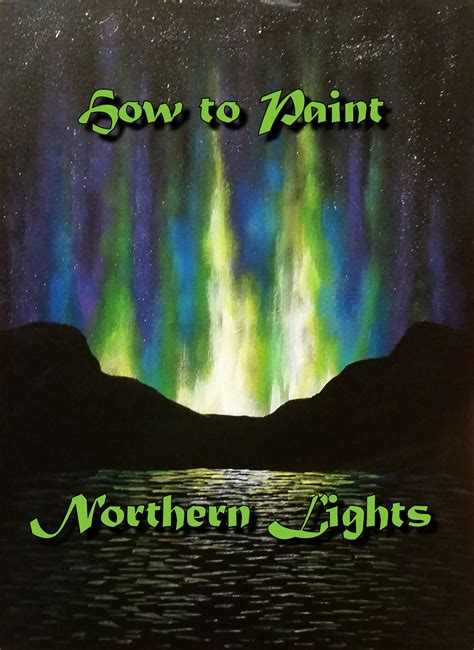 how to paint northern lights step by step acrylic painting on canvas for beginners