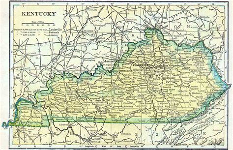 ky map 1910 kentucky census map access genealogy
