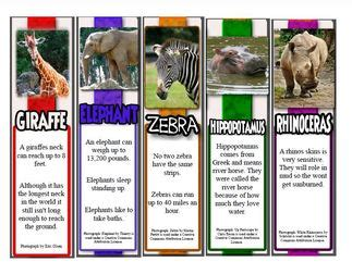 farm animal bookmarks facts printable animal bookmarks with facts