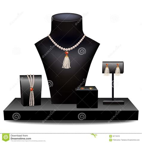 jewelry for dummies set of jewelry on dummies stock vector image 62715578