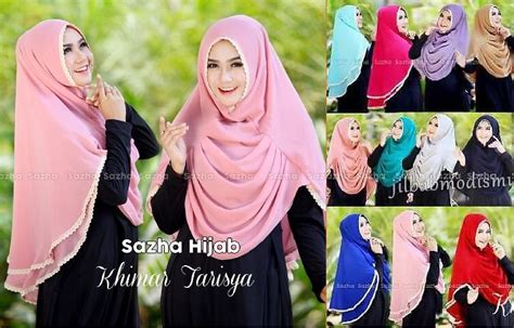 Jilbab Instan Perempuan Khimar Kerudung Wanita Muslimah fashion syari foto 2017